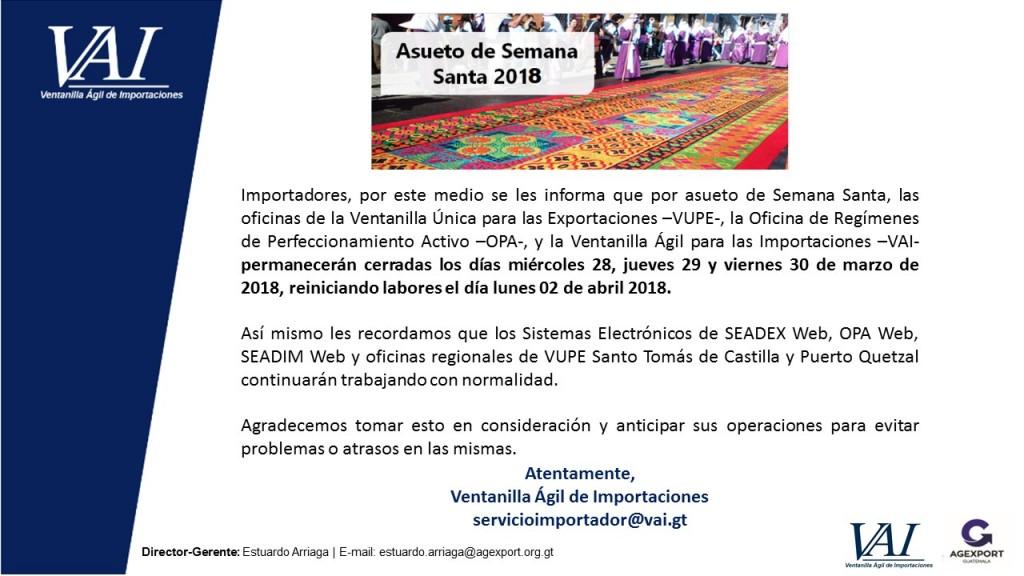 Asueto Semana Santa 2018