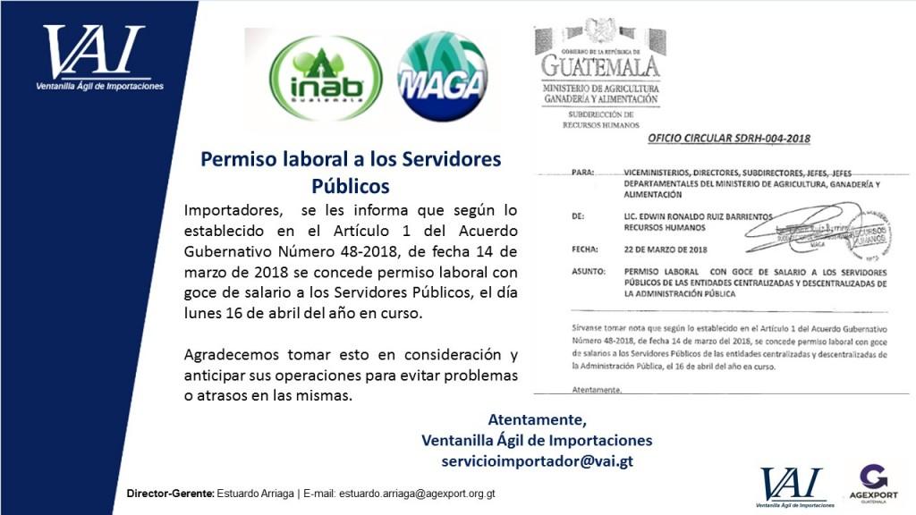 Servidores Públicos MAGA - INAB