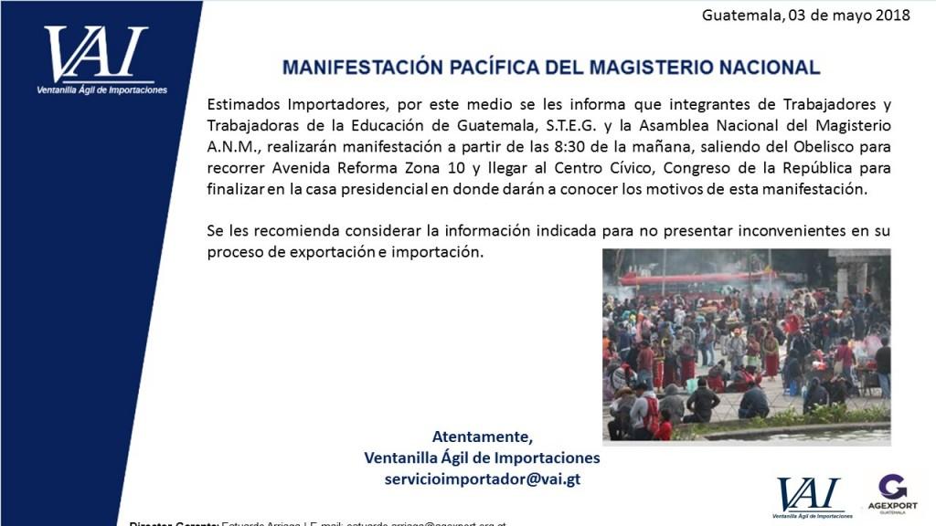 Manifestación Pacifica del Magisterio Nacional