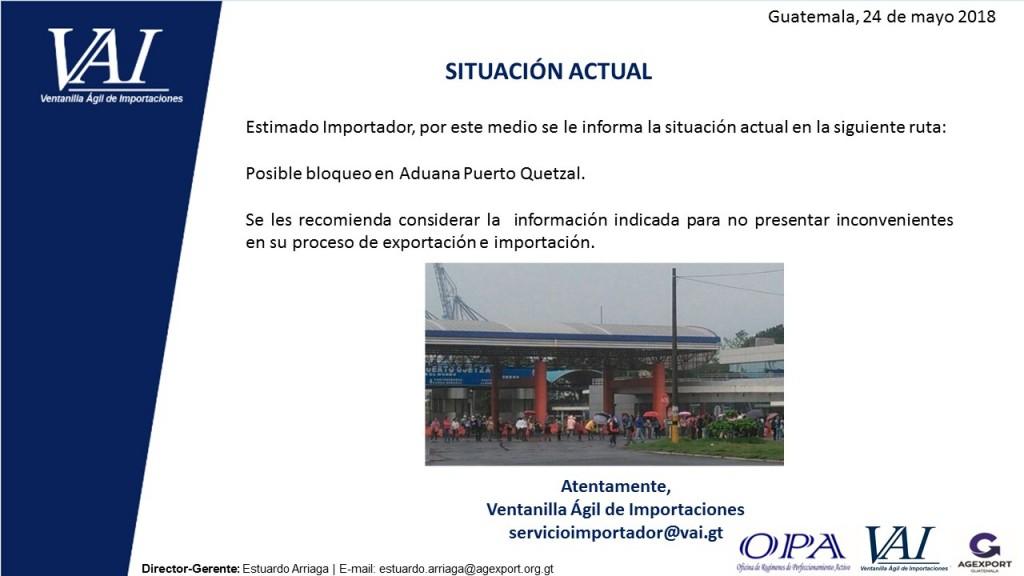 SITUACION ACTUAL PUERTO QUETZAL