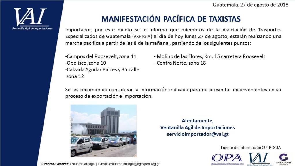 Manifestación Taxistas  27_08_2018