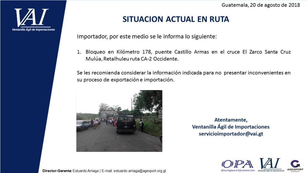 SITUACION ACTUAL EN RUTA 20_08_2018