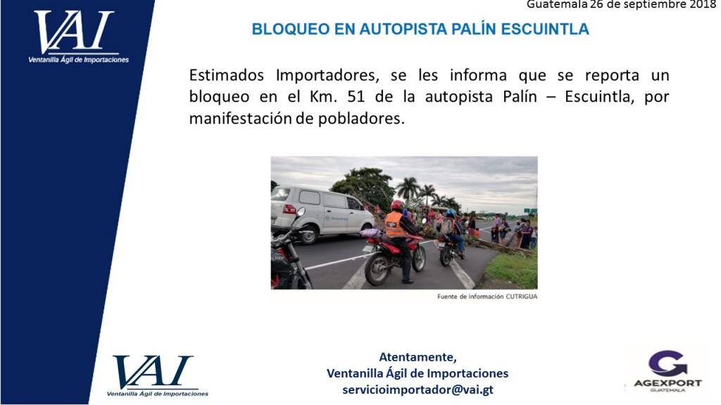 Bloqueo Palín Escuintla 26_09_2018