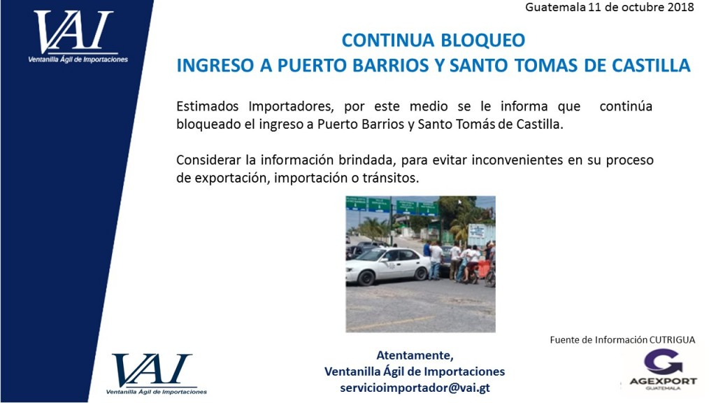 Bloqueo Santo Tomas de Castilla 11_10_2018