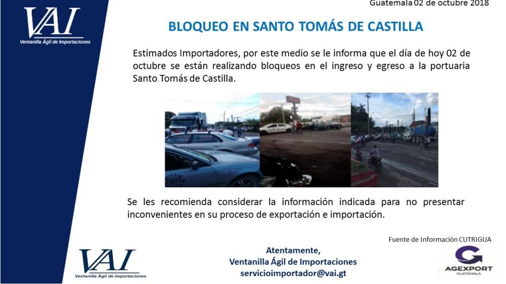 Bloqueos Santo Tomas de Castilla 02_10_2018
