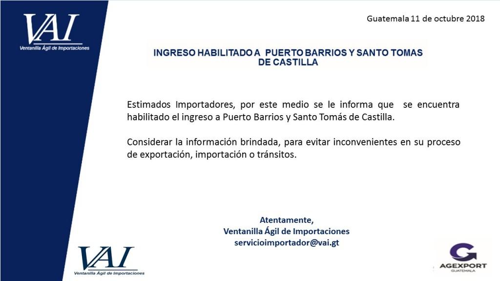 Puerto Santo Tomas de Castilla Habilitado 11_10_2018
