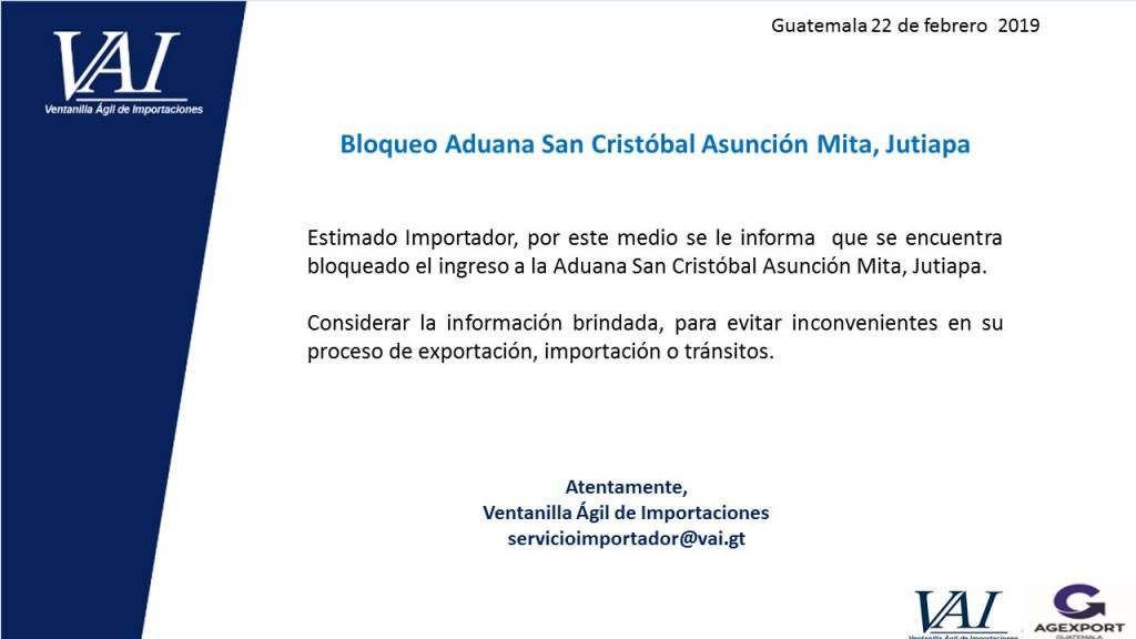 Bloqueo Aduana San Cristobal 22_02_2019