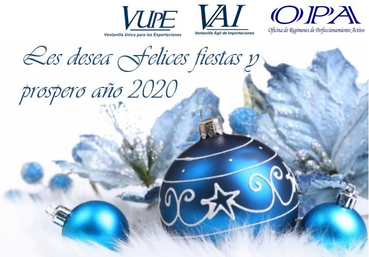 FELICES FIESTAS Y FELIZ AÑO 2020