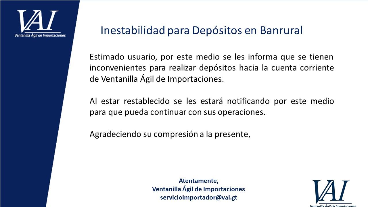 Inestabilidad Banrural